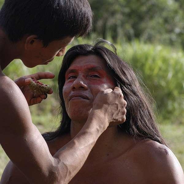 Huaorini-warrior