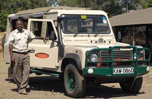 Safari Guide and Vehicle