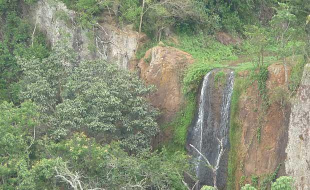 Waterfall on route to elephant caves