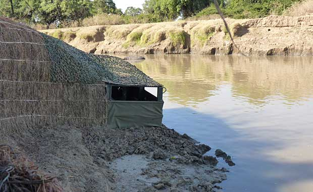 Kaingo Camp - Hide, best place to see hippos up close