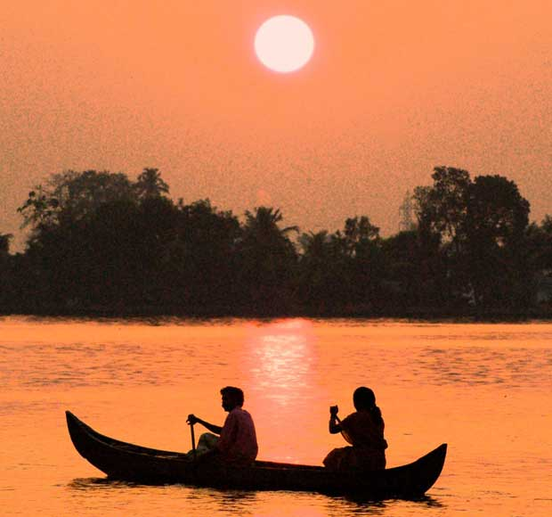 Backwaters Canals Sunset Canoe