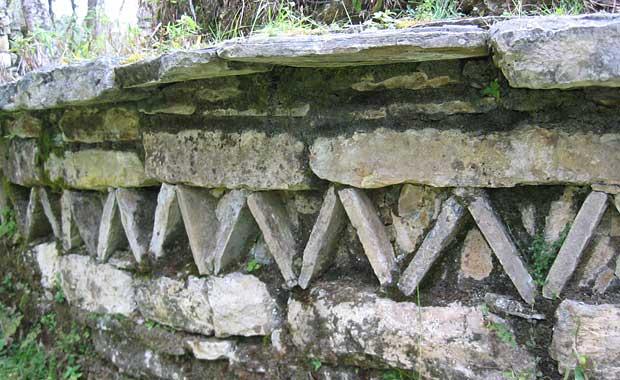 Kuelap fortress wall detail