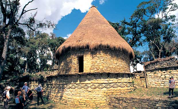 Kuelap fortress reconstructed house