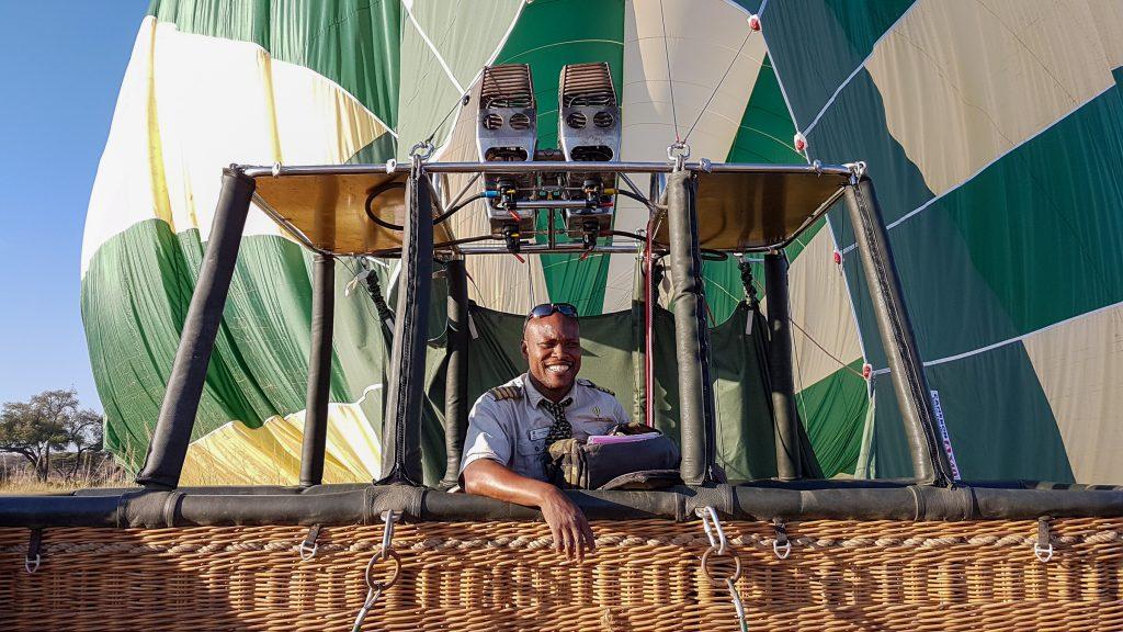 Hot air balloon pilot, Ruaha, Tanzania