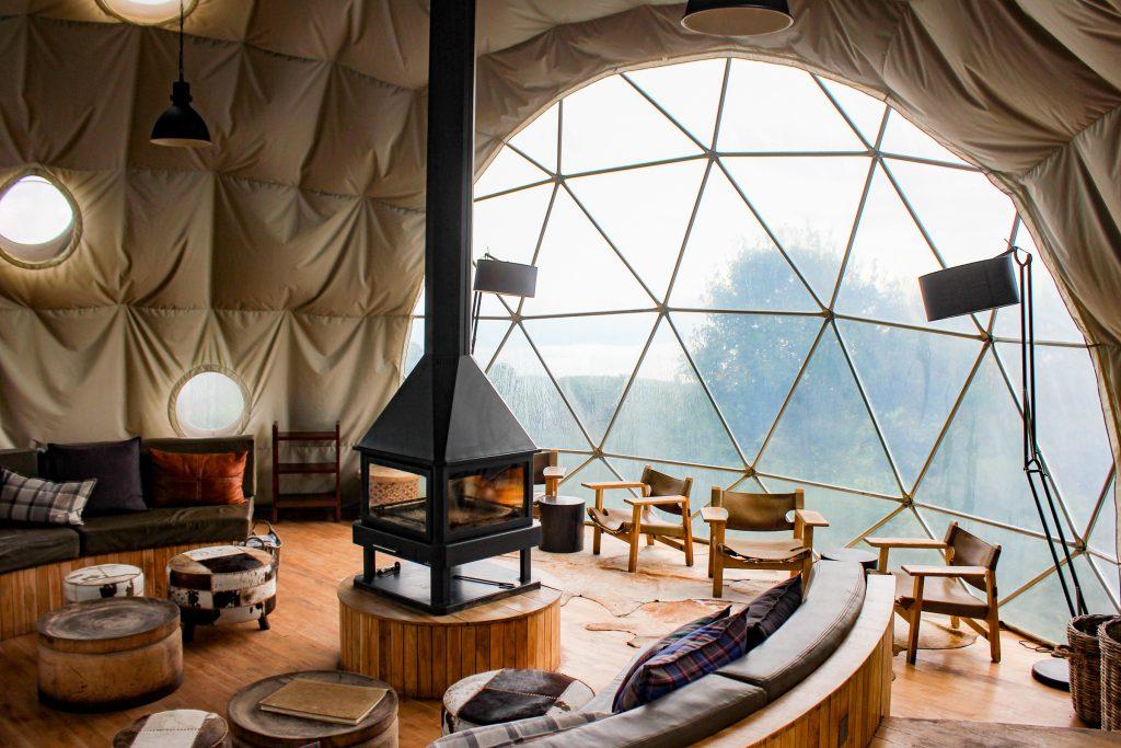 Main sitting room in The Highlands, Ngorongoro Crater, Tanzania