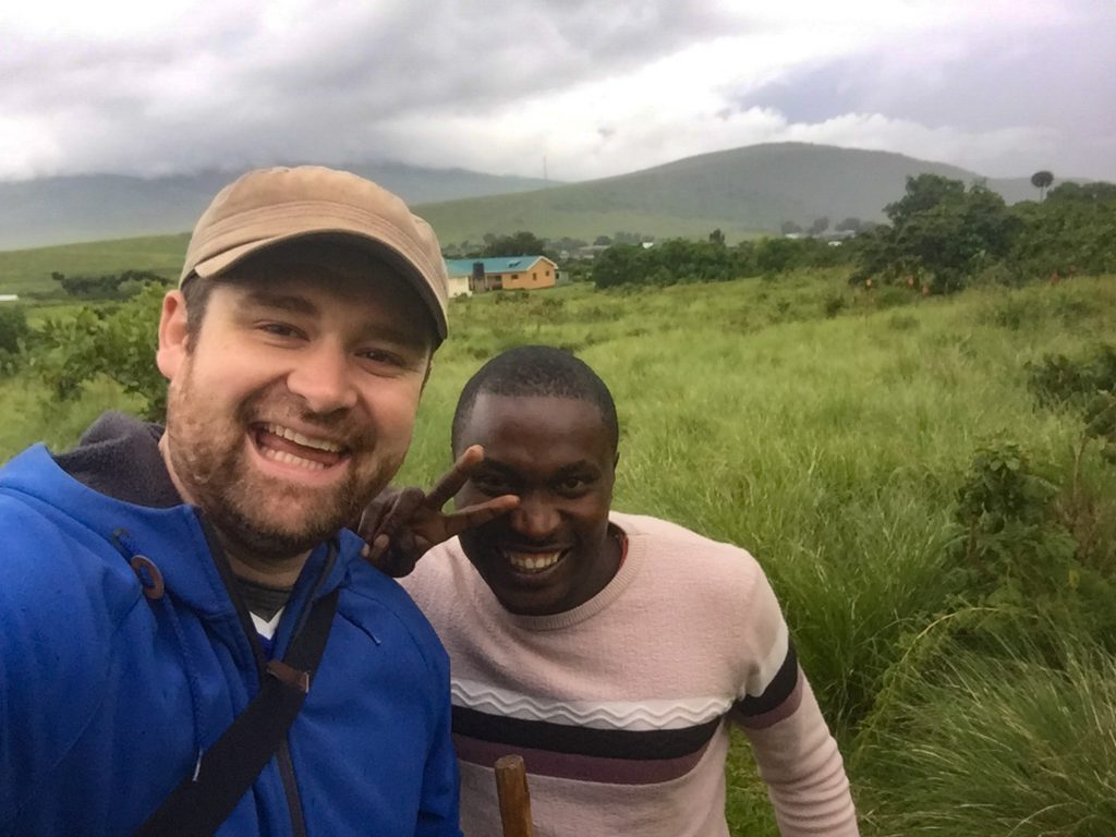 On a guided walk in the Ngorongoro Highlands, Tanzania