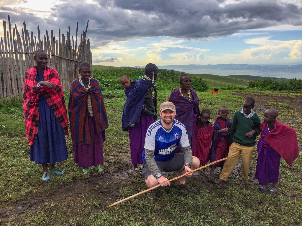 Visiting a Maasai village near The Highlands, Ngorongoro, Tanzania