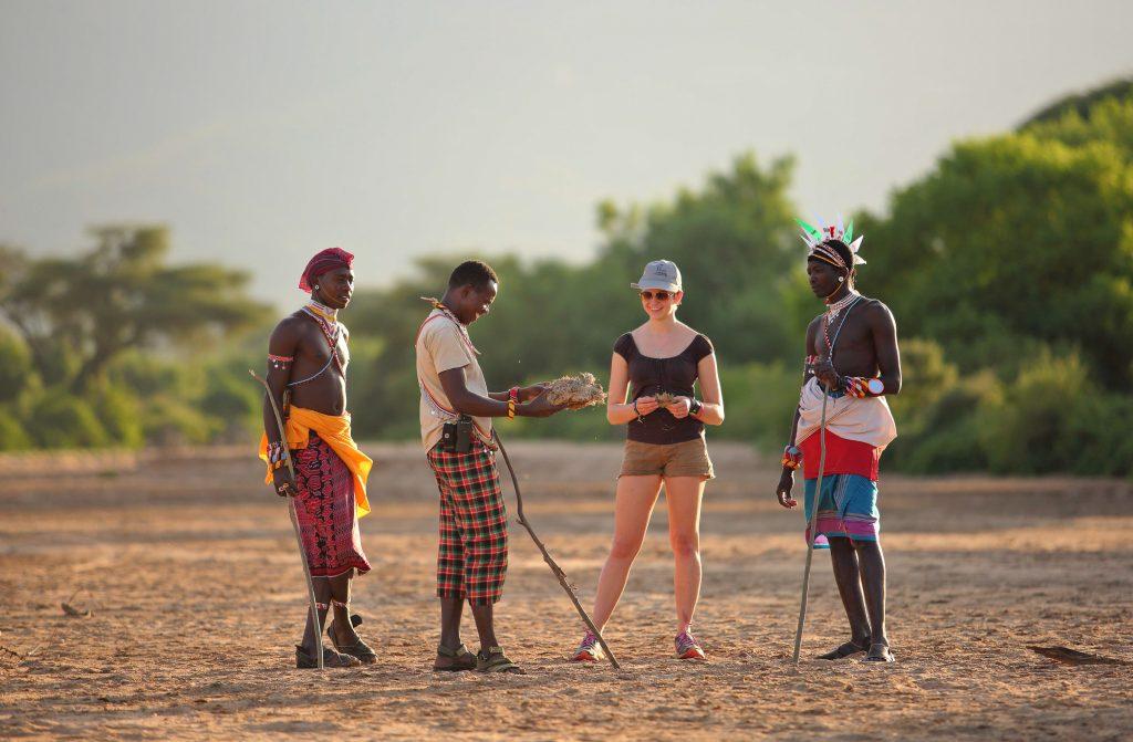 Walking safari with Sarara Camp in Namunyak Conservancy near the Mathews Range, northern Kenya